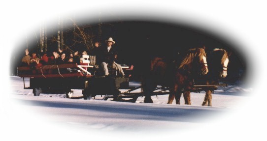 Sleigh ride at Eagle Creek Ranch near Leavenworth WA